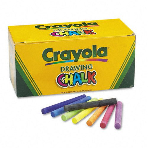Crayola® Colored Drawing Chalk, 6 Each of 24 Assorted Colors, 144 Sticks per Set