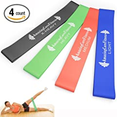 Buy Amazing Core Fitness - Resistance Loop Bands - Premium Set of 4 Resistance Exercise Bands - Perfect for P90x, Insanity,... by Amazing Core Fitness