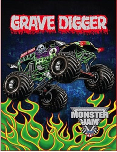 "Kids Characters Silk-Touch Throw 46"" X 60"" (Monster Jam)"