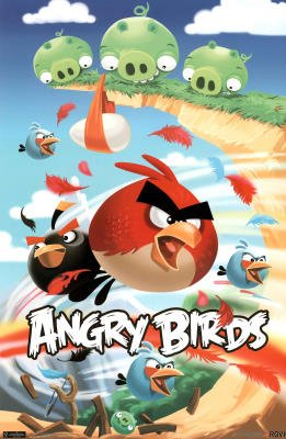 Angry Birds Attack Video Game Poster Print - 22x34
