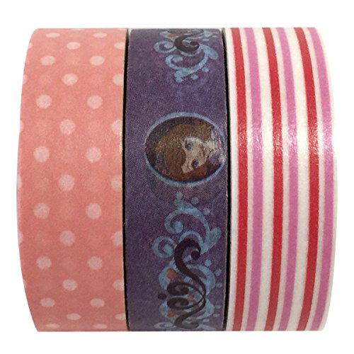Disney Sofia the First Tape Works Tape & AllyDrew Stripes / Polka Dots Washi Tape (set of 3)