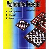 """3in1 Magnet Reisespiel - Backgammon, Schach und Damevon """"Unbekannt"""""""