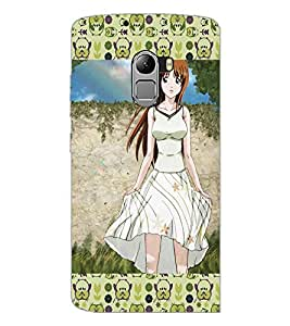 PrintDhaba Cute Girl D-5101 Back Case Cover for LENOVO K4 NOTE A7010a48 (Multi-Coloured)