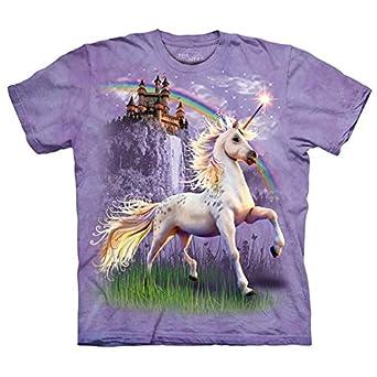 The Mountain Unicorn Castle Adult Size Small T-Shirt (Purple)