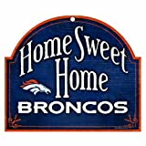 "NFL Denver Broncos 10-by-11 inch Wood ""Home Sweet Home"" Arch Sign at Amazon.com"