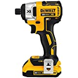 DEWALT DCF886D2 20V XR Lithium Ion Brushless 1/4-Inch Impact Driver Kit (Color: Yellow)