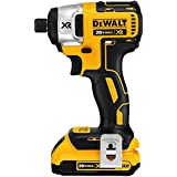 DEWALT DCF886D2 20V XR Lithium Ion Brushless 1/4-Inch Impact Driver Kit