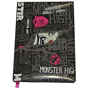 Monster High - MON0038 - Fourniture Scolaire - Agenda 2013/2014 - Noir