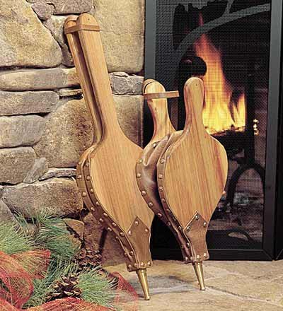 New American-Made Black Willow Hardwood Bellows with Hand-Rubbed Oil Finish