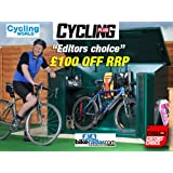 "Bike Storage, Cycle store 6'8"" x 3'4""(Supplied Flat Pack) - Secure Bicycle Storage Unit from Asgard"