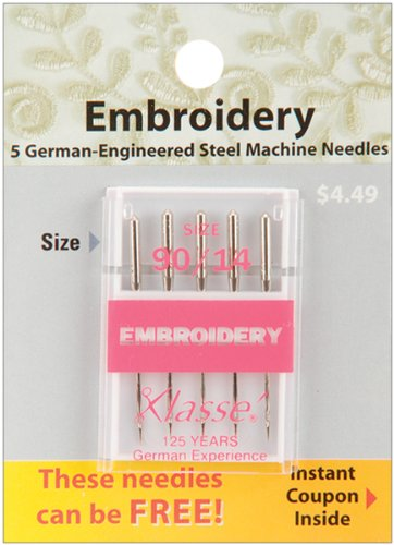 Buy Cheap Tacony Corporation Klasse Embroidery Machine Needles-90/14 5/Pkg