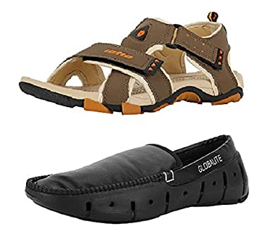 Lotto Menu0026#39;s Combo Of Sandal U0026 Globalite Loafer GT7076_0052 ...