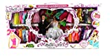 My Little Madilynn 'Just Married' Toy Doll Playset, Comes w/ Bride & Groom Dolls, 40 Different Dress Outfits, Hair Brush, Mirror, Purse