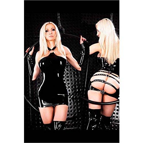 eastlion-amen-sexy-metallische-ds-wetlook-clubwear-stripper-lackleder-strumpfhose-schwarz-medium