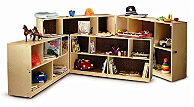 Toddler Fold & Roll Storage Cabinet in Natural Finish (24 Inches)