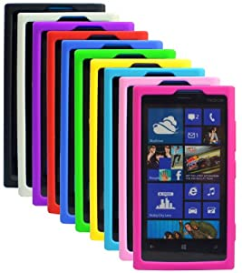 The Friendly Swede (TM) Bundle of 10 Colorful Silicone Covers/Cases/Skins for Nokia Lumia 920 + 2 Screen Protectors + Cleaning Cloth in Retail Packaging