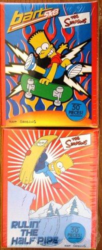 BART SIMPSON SK8 & RULIN HALF PIPE Mini Puzzles 2 Box Set - 1
