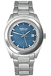 Kenneth Cole Men's KC3716 Reaction Silver-Tone Bracelet Watch