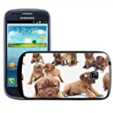 Fancy A Snuggle Bull Mastiff Dog Puppies Clip-on Hard Back Cover for Samsung Galaxy S3 Mini i8190