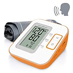 Healthsense BP100 Heart Mate Classic Fully Automatic Digital Talking Blood Pressure Monitor (White/Orange)
