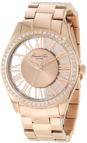 Kenneth Cole New York Women's KC4852 Transparency Rose Gold Transparency Analog Ladies Watch