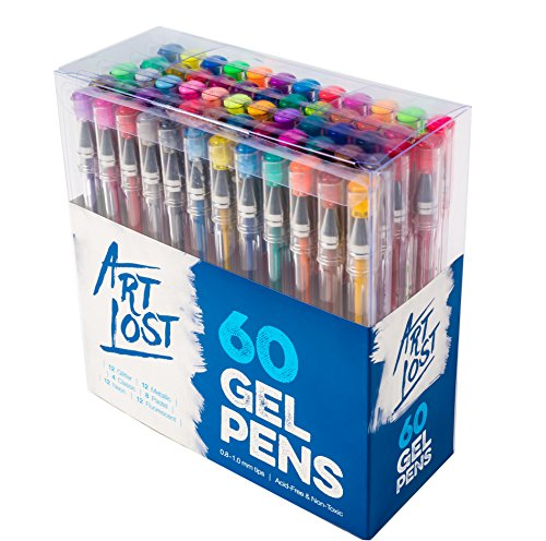 Gel-Ink-Pens-60-Unique-Colors-Medium-Point-08-mm-Set-of-60