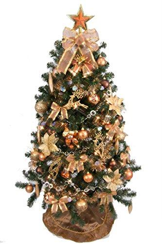 クリスマスツリー 150cm セット コパーゴールド セットツリー