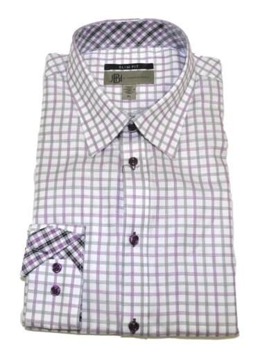 Jhane Barnes Men's Slim Fit Long Sleeve Cotton Dress