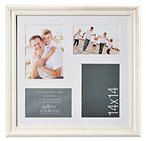 Gallery Solutions Deville 4-Opening Collage Frame, Ivory