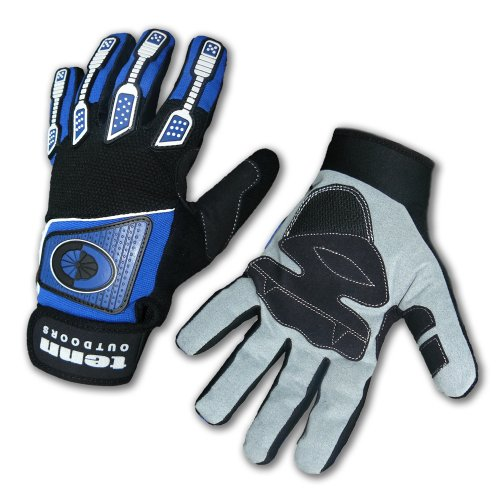 Buy Low Price Tenn Full Finger Waterproof / Windproof BMX MTB Off Road Cycling Cold Weather 3M Insulated Gloves Blue (B006GQUMEG)