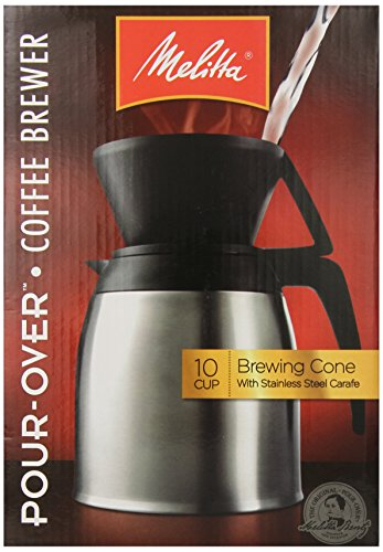 Melitta Coffee Maker, 10 Cup Pour- Over Brewer with Stainless Thermal Carafe , N | eBay