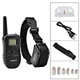 [Upgraded Version] Omgar 330Y Rechargeable Remote Dog Training Collar, Vibration Shock E-Collar for 15 to 100 lbs, with Adjustable TPU Collar Strap
