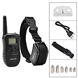Omgar 330Y Dog Training Collar with Adjustable TPU Collar Strap and Rechargeable Remote for 15-100 lbs. Dogs