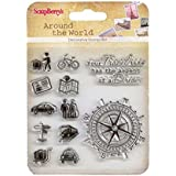 ScrapBerry's Set Of Clear Stempel 10, 5x10, 5 cm Welt Reise