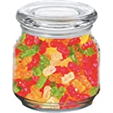 Gummy Bears in Pritchey Patio Glass Jar 8oz Trade Show Giveaway