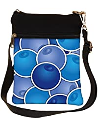Snoogg Blueberry Background Card In Vector Format Cross Body Tote Bag / Shoulder Sling Carry Bag