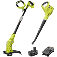 Ryobi P2013 ONE+ 18V Lithium-ion String Trimmer/Edger and Blower/Sweeper Combo Kit