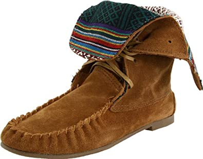 Steve Madden Women's Tblanket Moccasin Ankle Boot,Chestnut Suede,7.5 M US