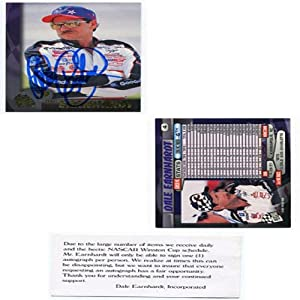 Dale Earnhardt Autographed Signed 1997 Press Pass Card (Dale Earnhardt Inc.) by Hollywood Collectibles