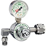 Western Enterprises M1-540-P M1 Series Preset Pressure Gauge Regulators, Oxygen, CGA540 Nut/Nipple, 3, 000 Psi