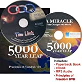 img - for 5000 Year Leap Paperback Book + Audiobook MP3 + Principles of Liberty DVD (SET OF 3) book / textbook / text book