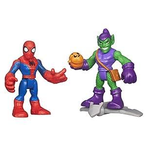 Playskool Heroes Marvel Super Hero Adventures Spider Man and Green Goblin Figures