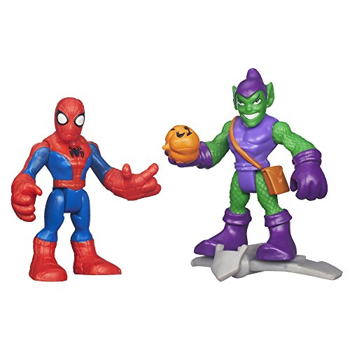 Playskool Heroes Marvel Super Hero Adventures Spiderman and Green Goblin Figures - 1