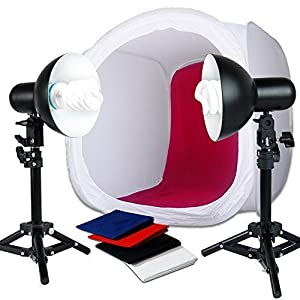"Julius Studio 20"" Photo Shooting Tent 400W Continuous Lighting Stand Kit for Table Top Photography Studio, JSAG176"