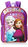 Disney Frozen Anna & Elsa Girl's Backpack Purple with Amber Trim