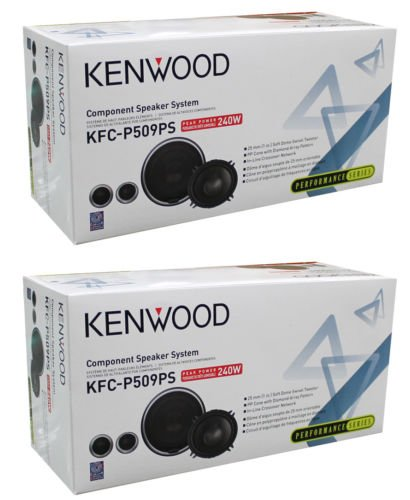 New Kenwood Vehicle Electronics 4-Pack Kfc-P509Ps Component Car Speaker System