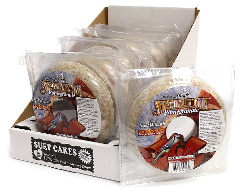 Heath Outdoor DD-43 Suet Wreath Cake Pomegranate 18-Ounce, 6 Case Food ...
