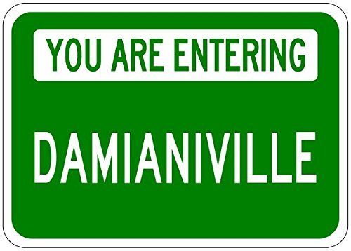 You Are Entering DAMIANIVILLE - Personalized