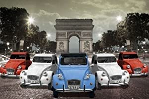 Citroen Arc de Triomphe Paris Photo Vintage Car Travel Poster Arch of Triumph 24 x 36 inches