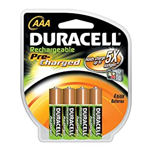 4-pack Duracell Pre Charged Rechargeable NiMH AAA Batteries $6.71